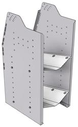 """33-L836-2 Profiled Back Refrigerant Shelf Unit 15.45""""Wide x 18.5""""Deep x 36""""High for 2 large bottles"""