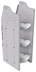 """33-L848-3 Profiled Back Refrigerant Shelf Unit 15.45""""Wide x 18.5""""Deep x 48""""High for 3 large bottles"""