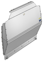 10-FT02-121 Solid Contoured Partition for Ford Transit Medium Roof