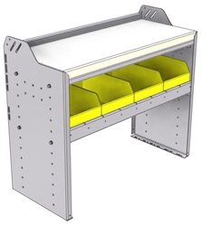 "18-3530-5W Workbench 34.5""Wide x 15.5""Deep x 30""high with 1 bin shelf and a 1.5"" thick hardwood worktop"
