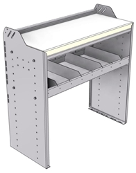 """18-3536-1W Workbench 34.5""""Wide x 15.5""""Deep x 36""""high with 1 standard divider shelf and a 1.5"""" thick hardwood worktop"""