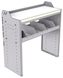 """18-3536-3W Workbench 34.5""""Wide x 15.5""""Deep x 36""""high with 1 high divider shelf and a 1.5"""" thick hardwood worktop"""