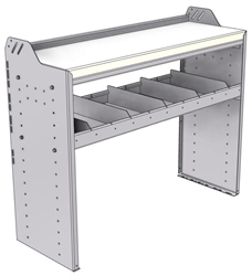 "18-4536-1W Workbench 43""Wide x 15.5""Deep x 36""high with 1 standard divider shelf and a 1.5"" thick hardwood worktop"