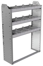 "20-3148-3 Square back shelf unit 36""Wide x 11.5""Deep x 48""High with 3 shelves"