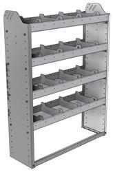 "20-3148-4 Square back shelf unit 36""Wide x 11.5""Deep x 48""High with 4 shelves"