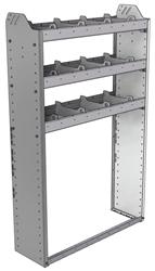 "20-3158-3 Square back shelf unit 36""Wide x 11.5""Deep x 58""High with 3 shelves"