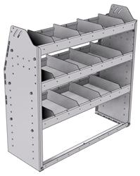 "21-3336-3 Profiled back shelf unit 36""Wide x 13.5""Deep x 36""High with 3 shelves"