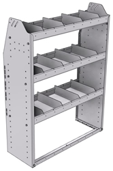 "21-3348-3 Profiled back shelf unit 36""Wide x 13.5""Deep x 48""High with 3 shelves"