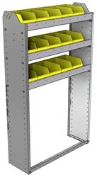 "22-3158-3 Square back bin shelf unit 34.5""Wide x 11.5""Deep x 58""High with 3 shelves"