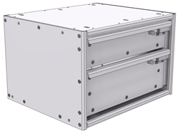 """16-1512-110 Tool drawer 18""""Wide X 15.5""""Deep X 11-11/16""""High with 2 drawers"""