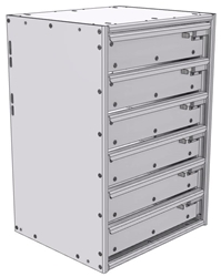 """16-1526-600 Tool drawer 18"""" Wide X 15.5"""" Deep X 25-11/16"""" High with 6 drawers"""