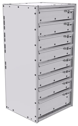 """16-1536-710 Tool drawer 18"""" Wide X 15.5"""" Deep X 35-11/16"""" High with 8 drawers"""