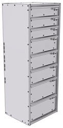 """16-1548-332 Tool drawer 18"""" Wide X 15.5"""" Deep X 47-11/16"""" High with 8 drawers"""