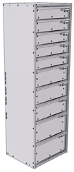 """16-1556-532 Tool drawer 18"""" Wide X 15.5"""" Deep X 55-11/16"""" High with 10 drawers"""
