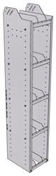 "28-1363-5 Square Back Bookshelf, 11""Wide x 13.5""Deep x 63""High with 5 shelves"