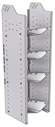 """32-C348-4 Square Back Refrigerant Combo Shelf Unit 15.45""""Wide x 13.5""""Deep x 48""""High for 1 large and 3 small bottles"""