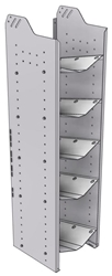 """32-C558-5 Square Back Refrigerant Combo Shelf Unit 15.45""""Wide x 15.5""""Deep x 58""""High for 1 large and 4 small bottles"""