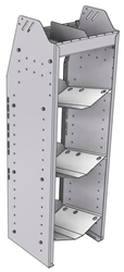 """33-C348-3 Profiled Back Refrigerant Combo Shelf Unit 15.45""""Wide x 13.5""""Deep x 48""""High for 2 large and 1 small bottle"""