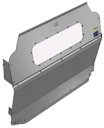 10-FT01-123 Window Contoured Partition for Ford Transit Low Roof