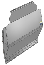 10-FT03-121 Solid Contoured Partition for Ford Transit High Roof